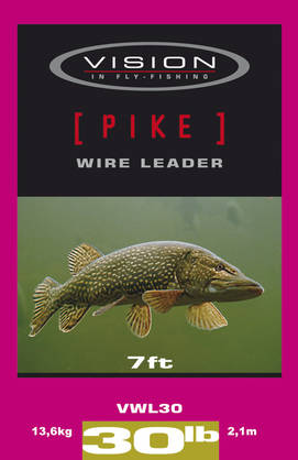Vision Pike Wire Leader 30lb 2,1m/ 13,6kg - Kartioperukkeet - 6417512809917 - 1